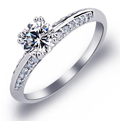 Rings Copper/Platinum Plated Ladies' Pretty Wedding & Party Jewelry (011165385)