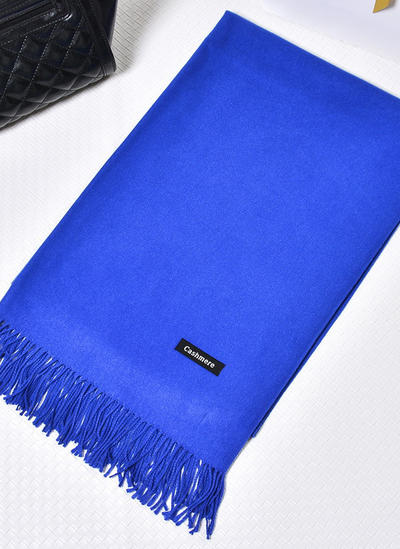 Shawl Fashion Artificial Wool Black Royal Blue White Red Pearl Pink Wraps (013149674)