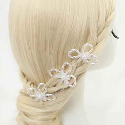 """Hairpins Wedding/Special Occasion/Party Alloy/Imitation Pearls 3.54""""(Approx.9cm) 2.24""""(Approx.5.7cm) Headpieces (042155276)"""