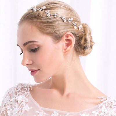 """Tiaras Wedding/Special Occasion/Party Alloy 11.22""""(Approx.28.5cm) 0.67""""(Approx.1.7cm) Headpieces (042157448)"""