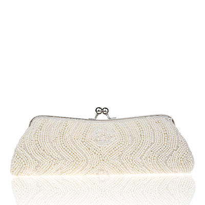 Clutches Wedding/Ceremony & Party Beading Kiss lock closure Delicate Clutches & Evening Bags (012187527)