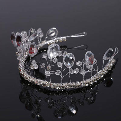 "Tiaras Wedding Crystal 11.8""(Approx.30cm) 1.97""(Approx.5cm) Headpieces (042159019)"