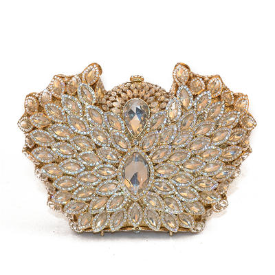 Clutches/Wallets & Accessories/Bridal Purse/Fashion Handbags/Makeup Bags Wedding/Ceremony & Party/Casual & Shopping Alloy Elegant Clutches & Evening Bags (012187845)