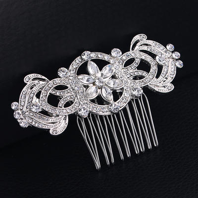 """Combs & Barrettes Wedding/Special Occasion Rhinestone/Alloy 3.27""""(Approx.8.3cm) 1.97""""(Approx.5cm) Headpieces (042158783)"""