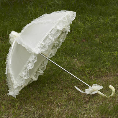 Wedding Umbrellas Bridal Parasols Women's Wedding Hook Handle Wedding Umbrellas (124148577)