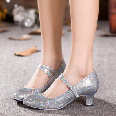 Frauen Charakter Schuhe Heels Funkelnde Glitzer Tanzschuhe (053181172)