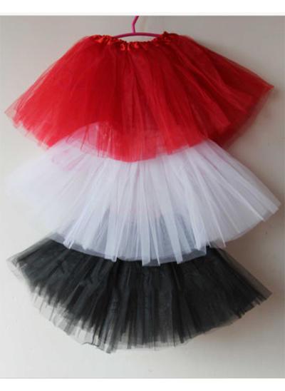 Bustle Short-length Tulle Netting/Satin Ball Gown Slip/Flower Girl Slip 2 Tiers Petticoats (037190862)