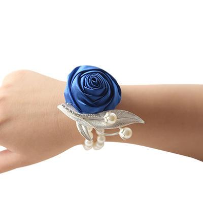 "Wrist Corsage Wedding Satin 3.94""(Approx.10cm) 3.94""(Approx.10cm) Wedding Flowers (123189451)"