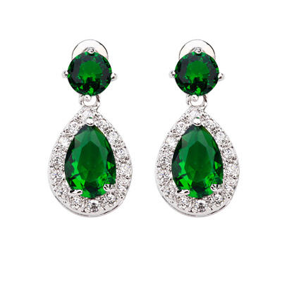 Earrings Zircon/Platinum Plated Pierced Ladies' Pretty Wedding & Party Jewelry (011164251)