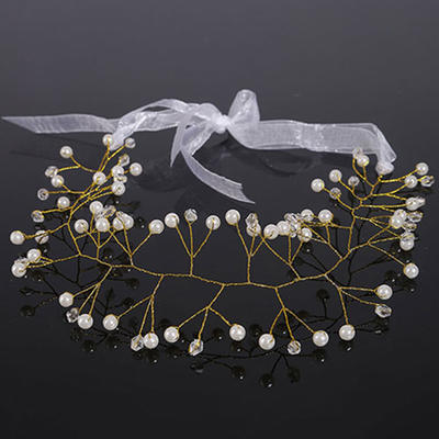 "Headbands Wedding Crystal/Imitation Pearls 15.75""(Approx.40cm) 1.97""(Approx.5cm) Headpieces (042159007)"