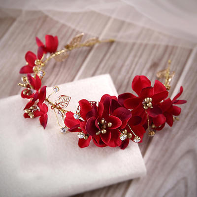 """Headbands Special Occasion/Party Artificial Silk/Gold Plated 14.96""""(Approx.38cm) 1.97""""(Approx.5cm) Headpieces (042155340)"""
