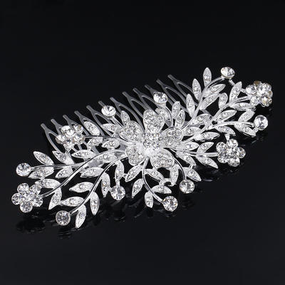"""Combs & Barrettes Wedding/Special Occasion Rhinestone/Alloy 3.94""""(Approx.10cm) 2.37""""(Approx.6cm) Headpieces (042158790)"""