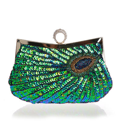 Clutches/Wristlets/Totes/Bridal Purse/Fashion Handbags/Makeup Bags/Luxury Clutches Wedding/Ceremony & Party/Casual & Shopping/Office & Career Sequin Magnetic Closure Elegant Clutches & Evening Bags (012187880)