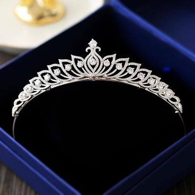 "Tiaras Wedding/Special Occasion/Party Zircon 1.18""(Approx.3cm) 5.51""(Approx.14cm) Headpieces (042158958)"