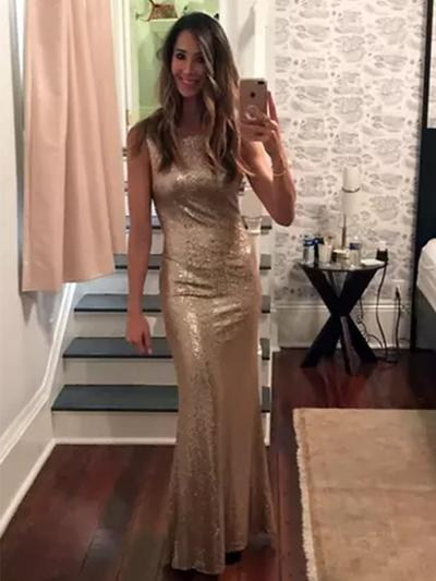 Sequined Sleeveless Sheath/Column Prom Dresses Scoop Neck Floor-Length (018218107)