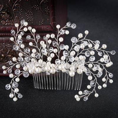 "Combs & Barrettes Wedding/Special Occasion/Party/Art photography Alloy/Imitation Pearls 4.13""(Approx.10.5cm) 6.3""(Approx.16cm) Headpieces (042159920)"