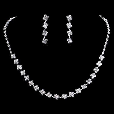 Jewelry Sets Alloy/Rhinestones Lobster Clasp Pierced Ladies' Wedding & Party Jewelry (011167174)