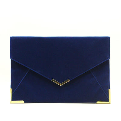 Clutches/Luxury Clutches Wedding/Ceremony & Party/Casual & Shopping/Office & Career Velvet Magnetic Closure Elegant Clutches & Evening Bags (012187799)