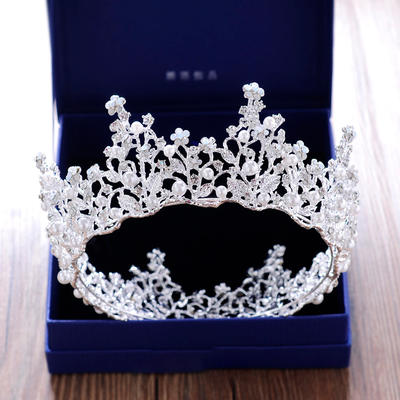 """Tiaras Wedding/Special Occasion/Party Rhinestone/Alloy 2.76""""(Approx.7cm) 5.51""""(Approx.14cm) Headpieces (042158938)"""