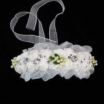 """Flower Girl's Headwear Wedding Tulle/Paper 3.94""""(Approx.10cm) 1.97""""(Approx.5cm) Headpieces (042153020)"""