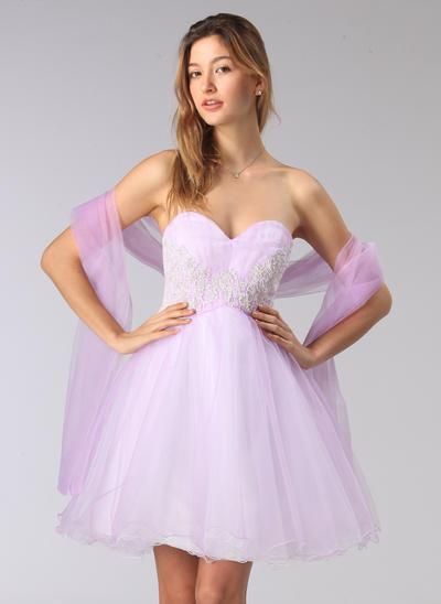 pink short evening dress