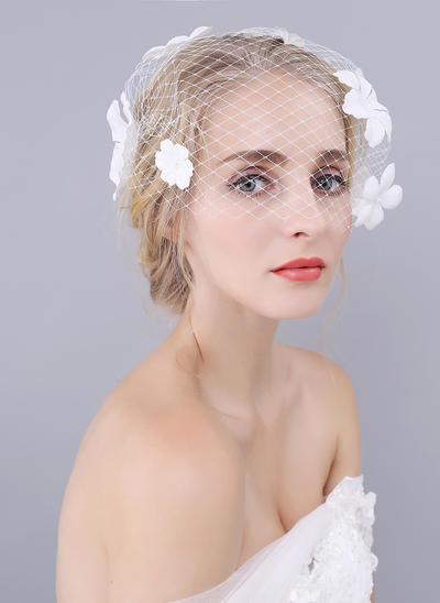 Rouge Schleier Tüll Einschichtig Klassische Art mit Schnittkante Brautschleier (006152015)