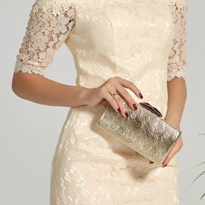 Clutches Wedding/Ceremony & Party PVC Snap Closure Elegant Clutches & Evening Bags (012187542)