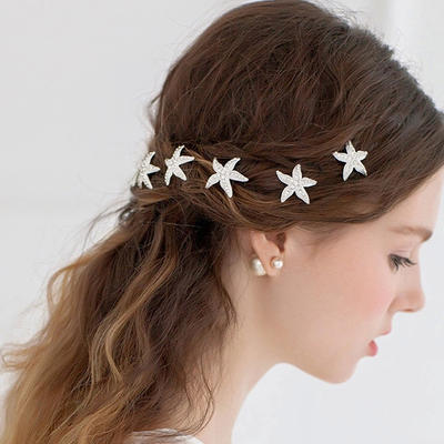 """Hairpins Wedding/Special Occasion/Casual/Outdoor/Party Rhinestone/Alloy 3.15""""(Approx.8cm) 1.18""""(Approx.3cm) Headpieces (042157104)"""