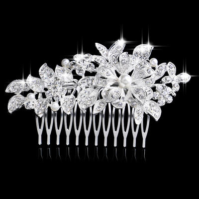 "Combs & Barrettes Wedding/Special Occasion/Party Rhinestone/Alloy/Imitation Pearls 4.13""(Approx.10.5cm)/14.57 ""(Approx.37cm) 2.36""(Approx.6cm) Headpieces (042156956)"