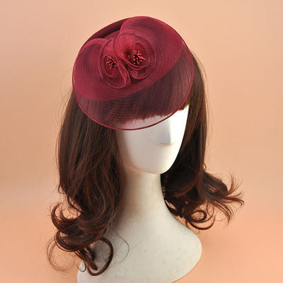 Polyester With Silk Flower Fascinators Elegant Ladies' Hats (196194883)