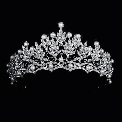 "Tiaras Wedding/Special Occasion Rhinestone/Alloy 2.76""(Approx.7cm) 5.90""(Approx.15cm) Headpieces (042158580)"