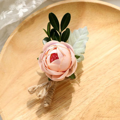 wrist corsage linen wedding flower