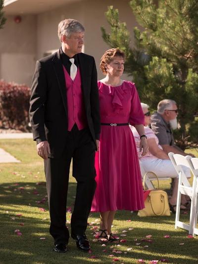 A-Line/Princess Scoop Neck Chiffon 3/4 Sleeves Tea-Length Ruffle Sash Mother of the Bride Dresses (008212771)