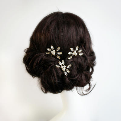"Hairpins Wedding/Special Occasion/Party/Art photography Alloy 2.60""(Approx.6.6cm) 3.55""(Approx.9cm) Headpieces (042159797)"