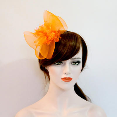 "Forehead Jewelry/Hats Wedding/Special Occasion/Party Net Yarn/Silk Flower 6.3""(Approx.16cm) 4.72""(Approx.12cm) Headpieces (042159445)"