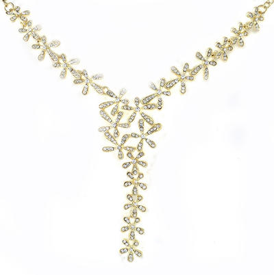 Necklaces Alloy Rhinestone Lobster Clasp Ladies' Wedding & Party Jewelry (011165003)