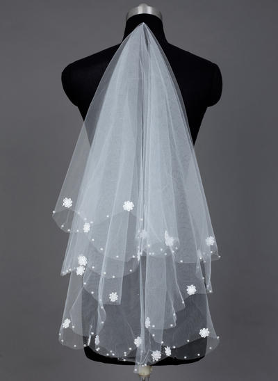 Waltz Bridal Veils Tulle One-tier Classic With Cut Edge Wedding Veils (006151583)