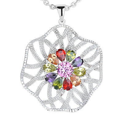"Necklaces Zircon/Platinum Plated Ladies' Charming 19.69""(Approx.50cm) Wedding & Party Jewelry (011166724)"