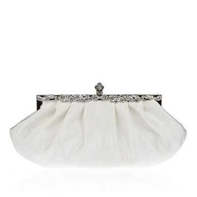 Clutches Wedding/Ceremony & Party Silk/Crystal/ Rhinestone Clip Closure Charming Clutches & Evening Bags (012186661)