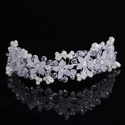 "Headbands Wedding/Party Alloy/Imitation Pearls 10.63""(Approx.27cm) 1.38""(Approx.3.5cm) Headpieces (042158749)"