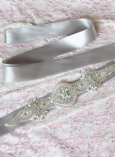 Women Ribbon With Rhinestones/Imitation Pearls Sash Elegant Sashes & Belts (015191311)