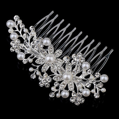 """Combs & Barrettes Wedding/Party/Carnival Rhinestone/Alloy/Imitation Pearls 4.72""""(Approx.12cm) 2.36""""(Approx.6cm) Headpieces (042156183)"""