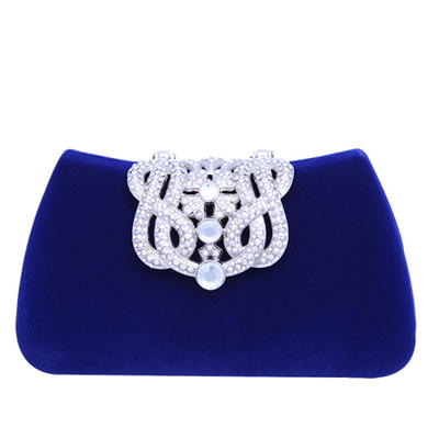 Clutches/Fashion Handbags Wedding/Ceremony & Party Crystal/ Rhinestone/Flannelette Material Snap Closure Fashional Clutches & Evening Bags (012186264)