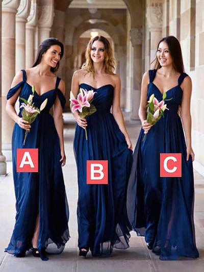 Chiffon Sleeveless A-Line/Princess Bridesmaid Dresses Sweetheart Ruffle Floor-Length (007211568)