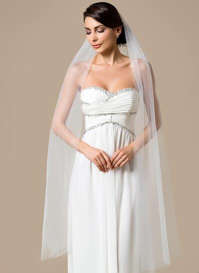 Waltz Bridal Veils Tulle One-tier Classic With Cut Edge Wedding Veils (006151800)