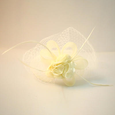 "Forehead Jewelry/Hats Wedding/Special Occasion/Party Net Yarn/Silk Flower 9.45""(Approx.24cm) 4.72""(Approx.12cm) Headpieces (042159424)"