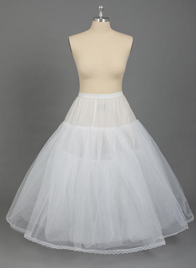 PLUS SIZE Petticoats Nylon/Tulle Netting Full Gown Slip 4 Tiers Special Occasion Petticoats (037190786)