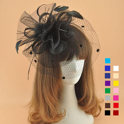 Cambric With Feather Fascinators Elegant Ladies' Hats (196195083)
