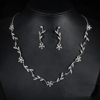 Jewelry Sets Alloy/Rhinestones Lobster Clasp Pierced Ladies' Wedding & Party Jewelry (011167359)