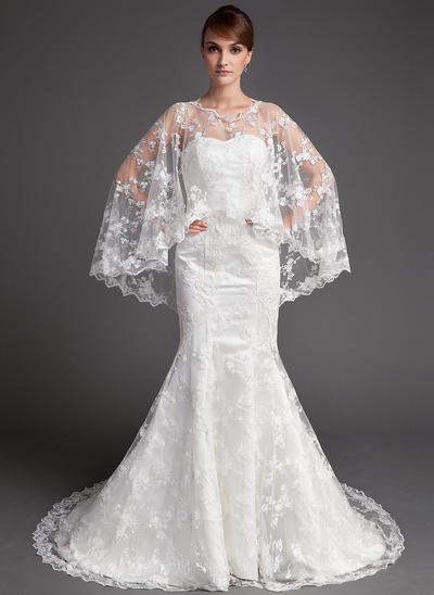 Sexy Chapel Train Trumpet/Mermaid Wedding Dresses Sweetheart Lace Sleeveless (002196830)